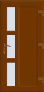 Drzwi wejściowe D01 brąz