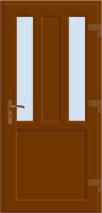 Drzwi wejściowe D04 brąz