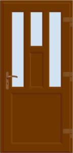 Drzwi wejściowe D05 brąz