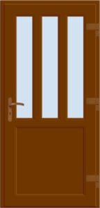 Drzwi wejściowe D06 brąz